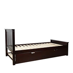 Max & Lily Solid Wood Twin-Size Bed with Trundle Bed (Assorted Colors)