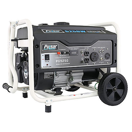Pulsar 5,250 Peak Watt Gas-Powered Portable Generator w/ Mobility Kit