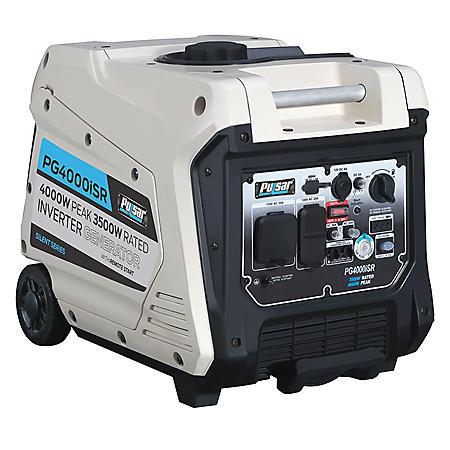 Pulsar 3,500/4, 000-Watt Gasoline-Powered Electric/Recoil Start Portable Inverter Generator