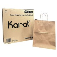 Karat Kraft Paper Bags with Twisted Handles, Large (250 ct.)