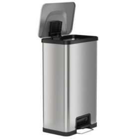 iTouchless AirStep 18 Gallon Step-On Kitchen Stainless Steel ...