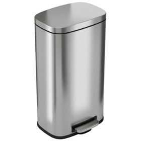 iTouchless SoftStep Stainless Steel Step Trash Can - 8 Gallon