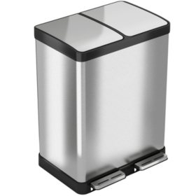 iTouchless SoftStep Stainless Steel Step Trash Can - 16 Gallon