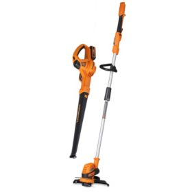 LawnMaster 24V Max Lithium Ion Grass Trimmer and Blower Combo Kit
