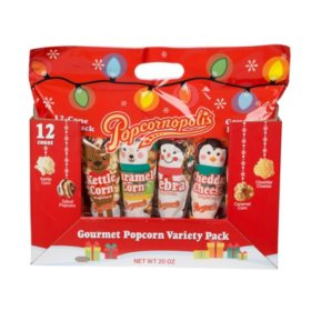 Popcornopolis 12-Count Holiday Snack Pack