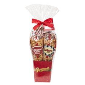 Popcornopolis Holiday 4-cone Popcorn Gift Basket (30 oz.)