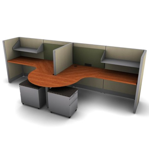 SNAP!Office 2-Person Task Workstation - Urban Jungle Color Combo