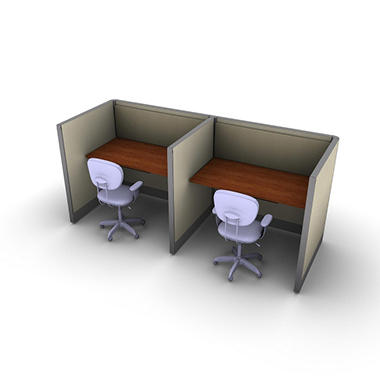 SNAP!Office 2-Person Basic Workstation - Gap Swing Color Combo