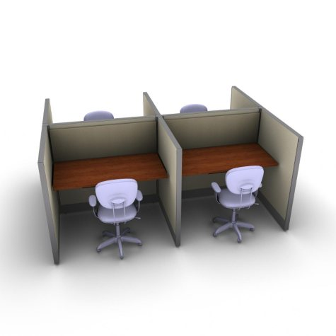 SNAP! Office 4-Person Basic Workstation - Gap Swing Color Combo
