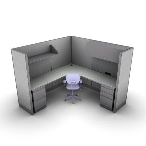 SNAP!Office 1-Person Management Workstation - Concrete Chic Color Combo