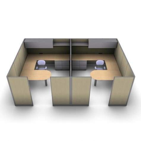 SNAP!Office 2-Person Executive Workstation - Hardwood Forest Color Combo