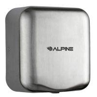Alpine Industries Hemlock High Speed, Commercial Hand Dryer, Stainles Steel Brushed, 120V