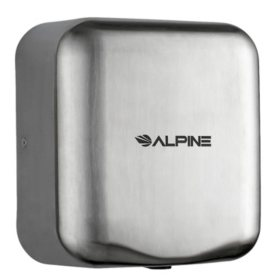 Alpine Industries Hemlock High Speed, Commercial Hand Dryer, Stainles Steel Brushed, 120V