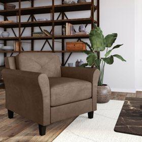 Harris Teardrop-Arm Chair, Brown
