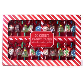 SCM Designs Candy Canes with Decorated Jellies (20 ct.)