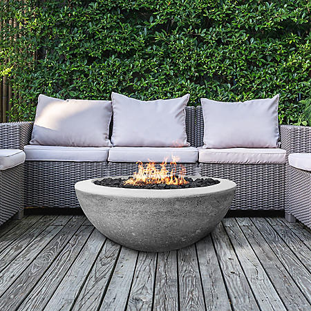 "Madrid 30"" Fire Bowl and Propane Tank Enclosure"