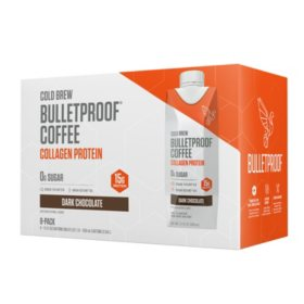 Bulletproof Coffee Cold Brew with Collagen Protein, Dark Chocolate (11.1 fl oz, 8 pk)