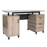 Techni Mobili Computer Desk with Storage, Gray