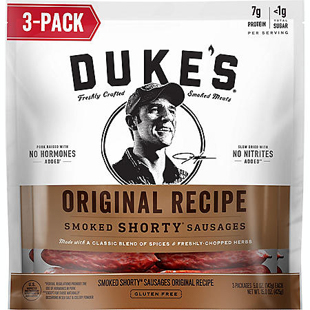 Duke's Original Recipe Smoked Shorty Sausages (5oz / 3pk)