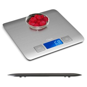 Zenith Digital Kitchen Scale by Ozeri, Refined Stainless Steel with Fingerprint-Resistant Coating