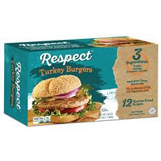 Respect ABF Turkey Burgers (1/4 lb.,12 ct.)
