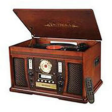 Victrola Aviator Wooden 7-in-1 Nostalgic Record Player with Bluetooth and Digital CD Encoding