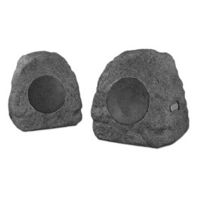 Innovative Technology Pair of Wireless Waterproof Rechargeable Bluetooth Outdoor Rock Speakers - Various Colors
