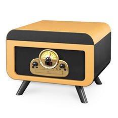 Victrola 5-in-1 Vintage Tabletop Record  Player with Bluetooth and CD Player- Camel