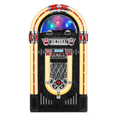 "Victrola Nostalgic  Wood 51"" Full-size Bluetooth Jukebox with Record Player and 3-Speed Turntable"