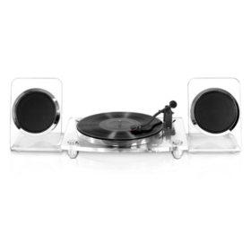 Victrola Acrylic Bluetooth 40-Watt Record Player with 2-Speed Turntable and Rechargeable Speakers - Various Colors