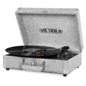 Victrola Suitcase Turntable in Linen Finish- Various Colors