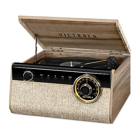 Victrola Austin Bluetooth Record Player in Reclaimed Wood Finish- Farmhouse Walnut