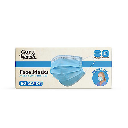 GuruNanda 3-Ply Disposable Face Mask (50 ct.)