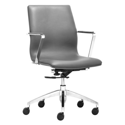 Champion Low-Back Leatherette Office Chair, Gray