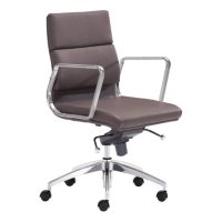 Director Low-Back Leatherette Office Chair, Espresso