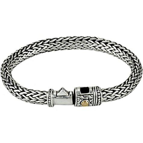 Robert Manse Sterling Silver and 18K Yellow Gold Eternity Weave Bracelet