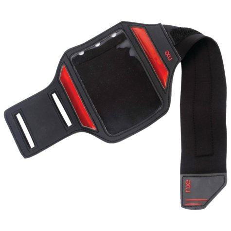 NXE ActiveBAND Reflective Sport Band for Android Phones - Black/Red