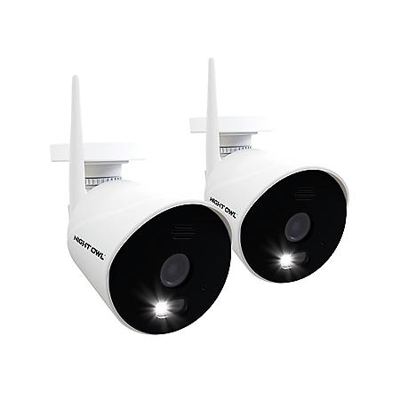 Night Owl 1080p HD Wi-Fi IP Cameras with Built-In Spotlights (2-Pack)