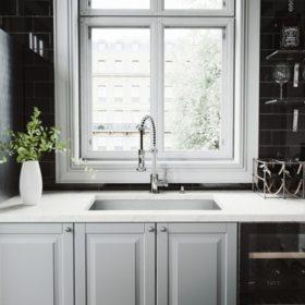 """VIGO 30"""" Ludlow Stainless Steel Undermount Kitchen Sink, With Grid And Strainer"""