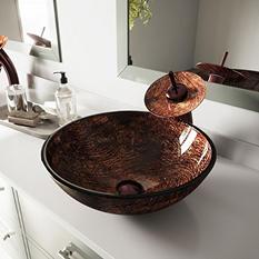 VIGO Kenyan Twilight Glass Vessel Bathroom Sink