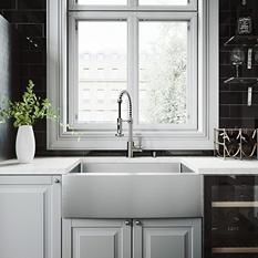 """VIGO 30"""" Farmhouse Stainless Steel Kitchen Sink, Grid and Strainer"""