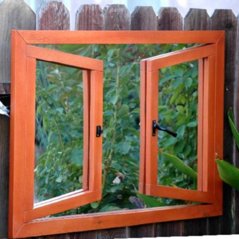 Portchester Double Open Window Illusion Garden Mirror