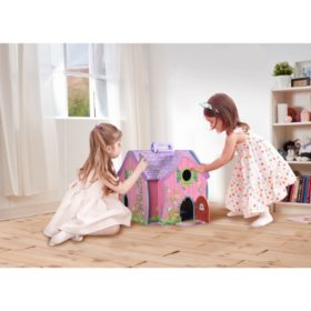 Teamson Kids Hand Carry Fairy Doll House with 7 Accessories