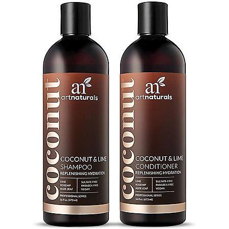 Artnaturals Coconut Lime Shampoo & Conditioner Duo