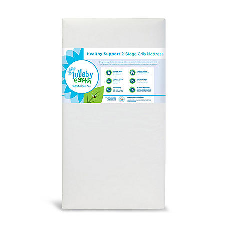 "Lullaby Earth ""Healthy Support"" 2-Stage Baby Crib and Toddler Mattress"