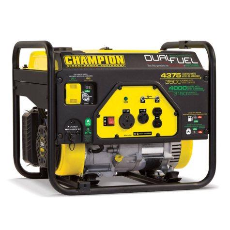 Champion Power Equipment 3500W/4375W Dual-Fuel Generator