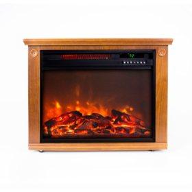 LifeSmart Square Fireplace Heater - Medium Oak
