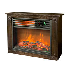 LifeSmart Compact Rolling Mantel Infrared Heater Fireplace (Assorted Colors)