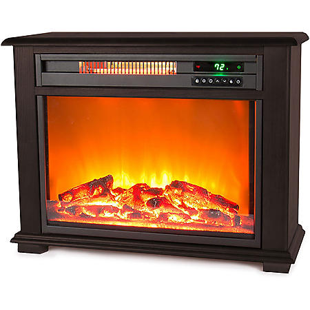 LifeSmart Fireplace Heater - Dark Walnut
