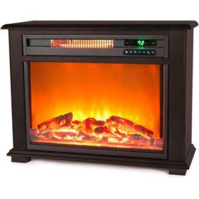 LifeSmart Fireplace Heater - Dark Walnut